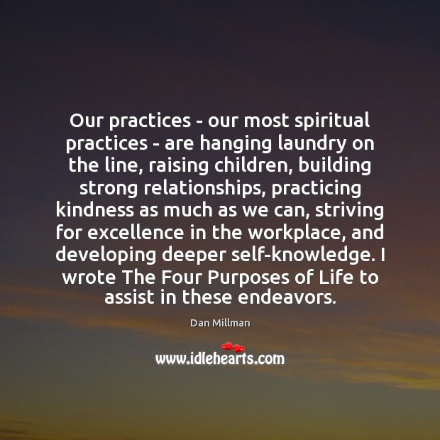 Our practices – our most spiritual practices – are hanging laundry on Image