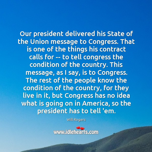 Our president delivered his State of the Union message to Congress. That Image