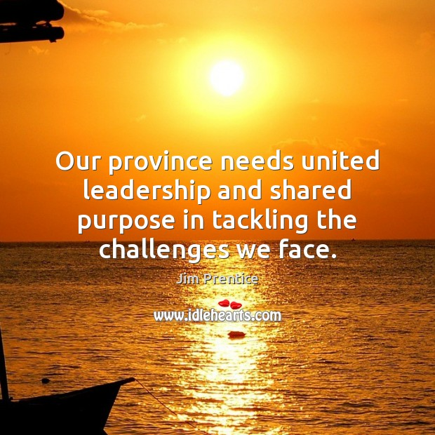 Our province needs united leadership and shared purpose in tackling the challenges Image