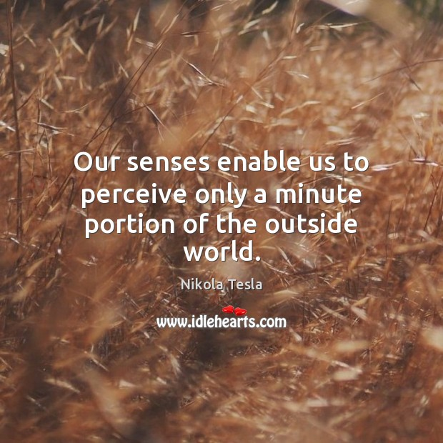 Our senses enable us to perceive only a minute portion of the outside world. Image