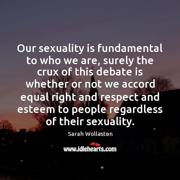 Our sexuality is fundamental to who we are, surely the crux of Image