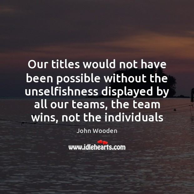 Our titles would not have been possible without the unselfishness displayed by Image