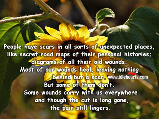 People Have Scars In All Sorts Of Unexpected Places