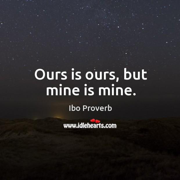 Ibo Proverbs