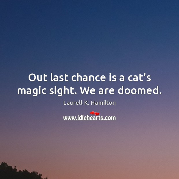 Image, Out last chance is a cat's magic sight. We are doomed.