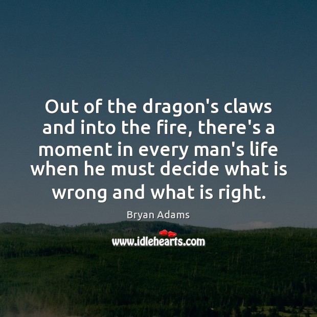 Out of the dragon's claws and into the fire, there's a moment Image