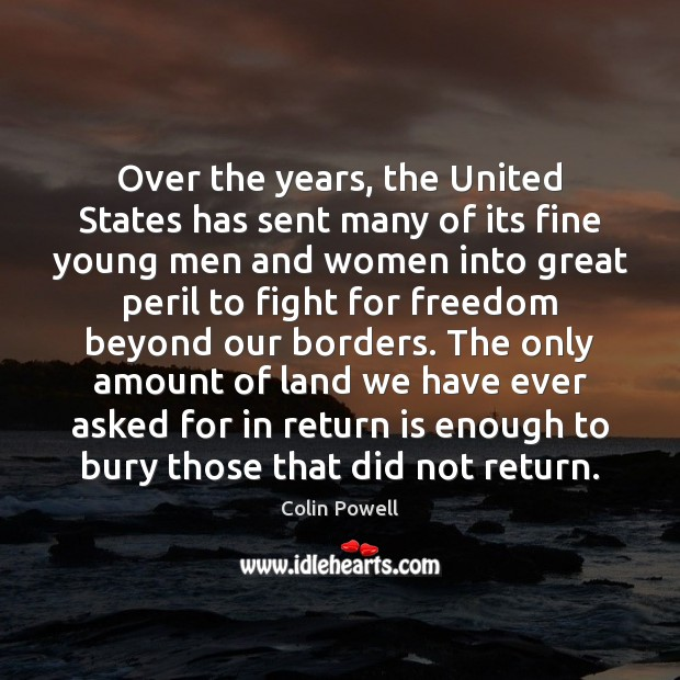Over the years, the United States has sent many of its fine Image