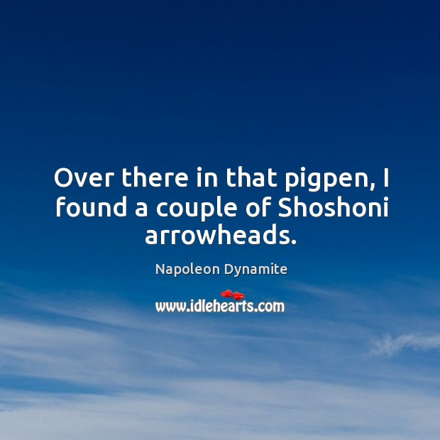Over there in that pigpen, I found a couple of shoshoni arrowheads. Image