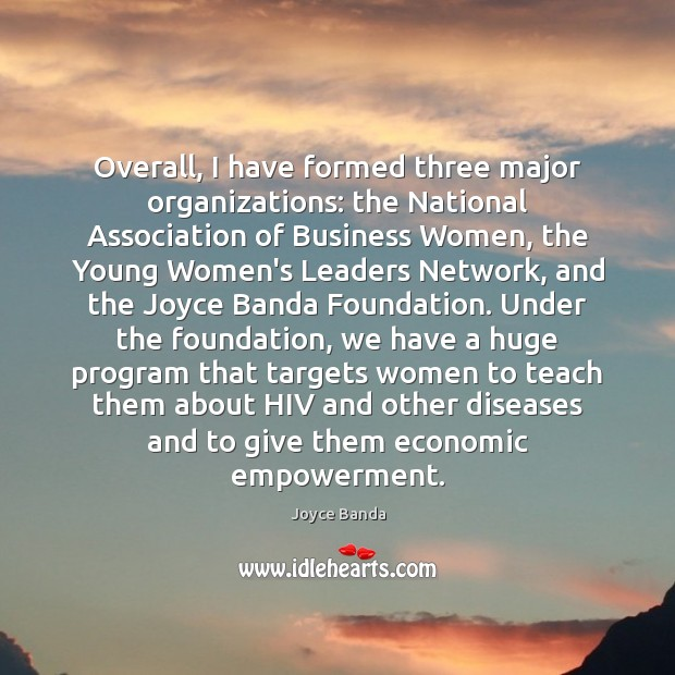 Overall, I have formed three major organizations: the National Association of Business Image