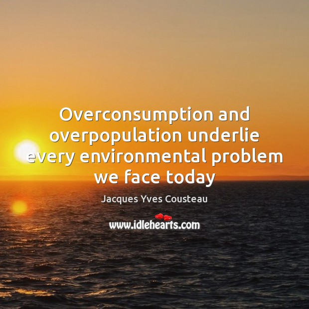 Image, Overconsumption and overpopulation underlie every environmental problem we face today