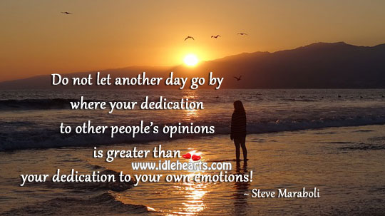 Dedication to your own emotions! Image