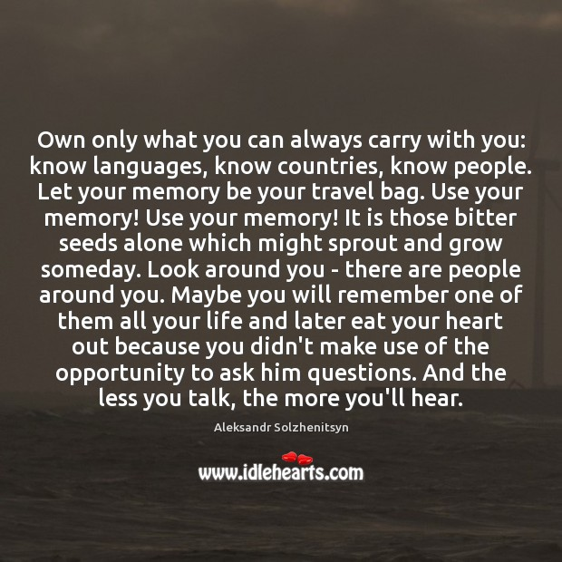 Own only what you can always carry with you: know languages, know Image