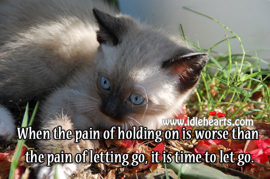 Time to let go Letting Go Quotes Image