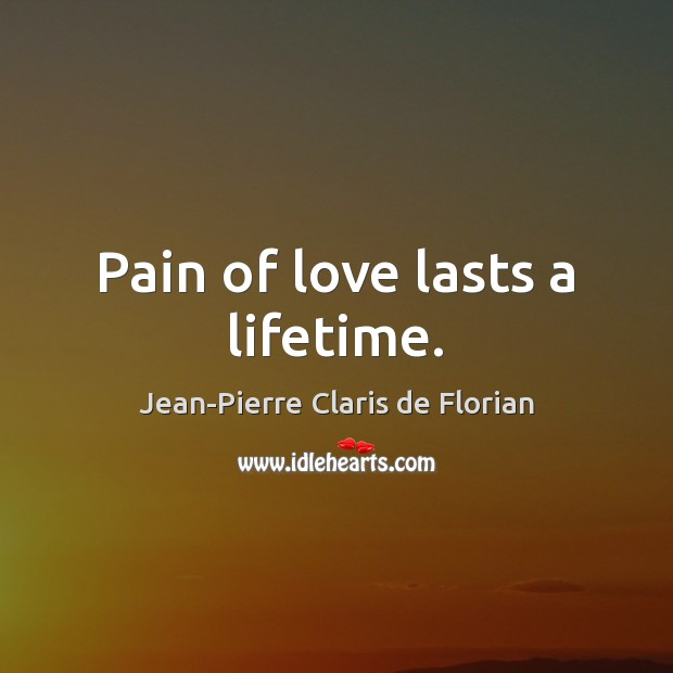 Pain of love lasts a lifetime. Image
