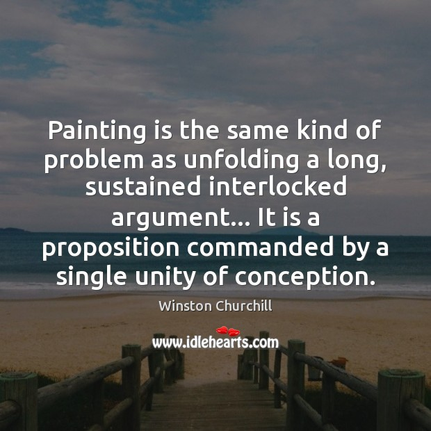 Image, Painting is the same kind of problem as unfolding a long, sustained