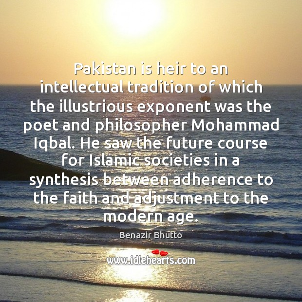 Image, Pakistan is heir to an intellectual tradition of which the illustrious exponent