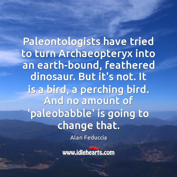 Image, Paleontologists have tried to turn Archaeopteryx into an earth-bound, feathered dinosaur. But