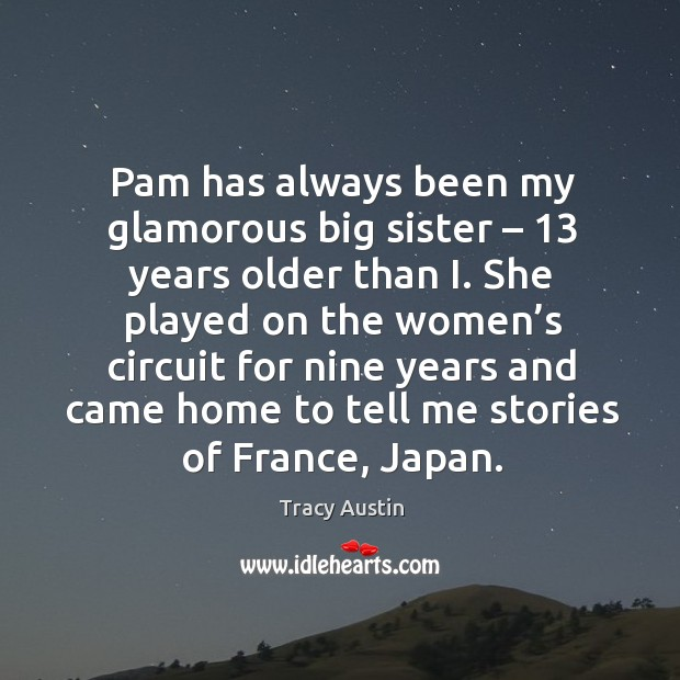 Pam has always been my glamorous big sister – 13 years older than i. She played on the women's Image