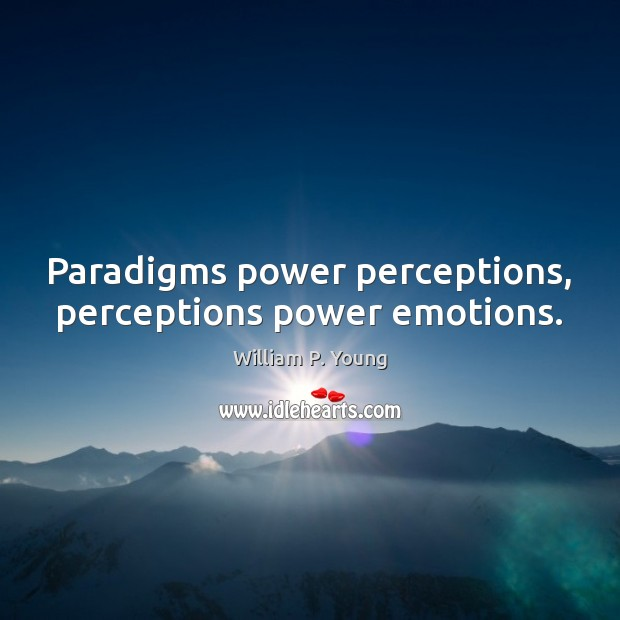 Paradigms power perceptions, perceptions power emotions. Image