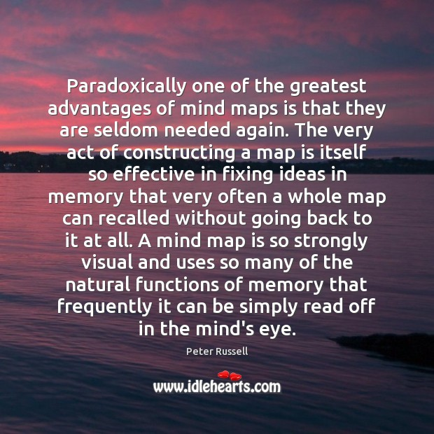 Paradoxically one of the greatest advantages of mind maps is that they Image