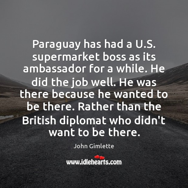 Paraguay has had a U.S. supermarket boss as its ambassador for Image
