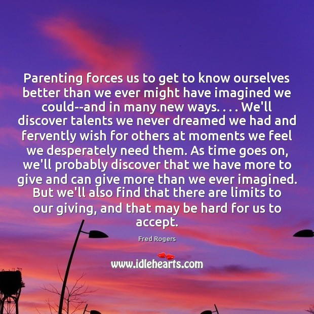 Image, Parenting forces us to get to know ourselves better than we ever