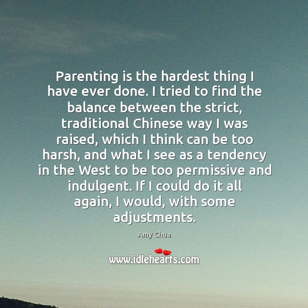 Parenting is the hardest thing I have ever done. I tried to Parenting Quotes Image