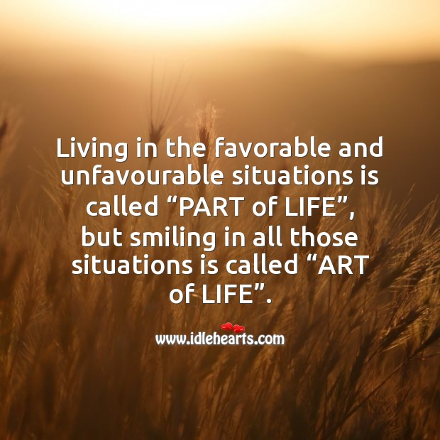 Image, Part of life vs Art of life.