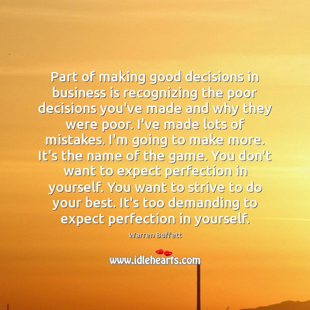 Part of making good decisions in business is recognizing the poor decisions Image