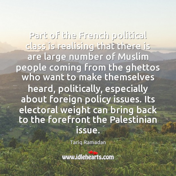 Part of the French political class is realising that there is are Image