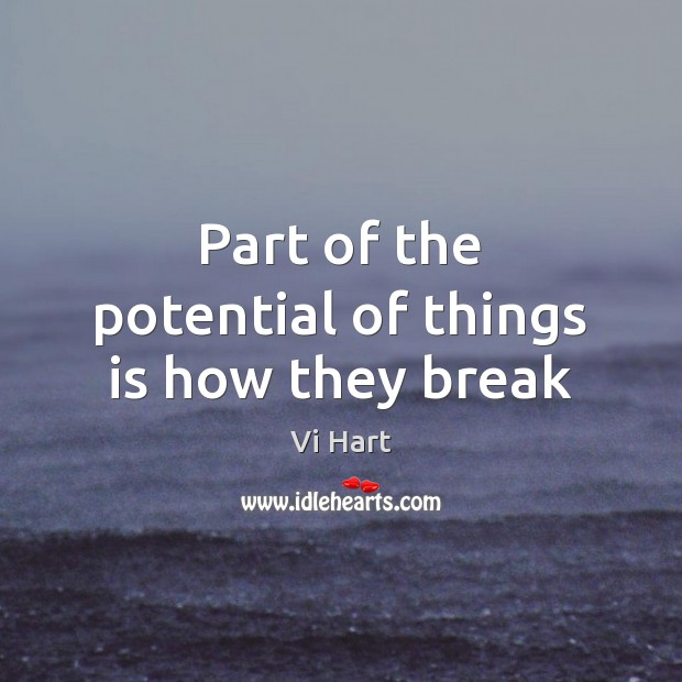 Part of the potential of things is how they break Image