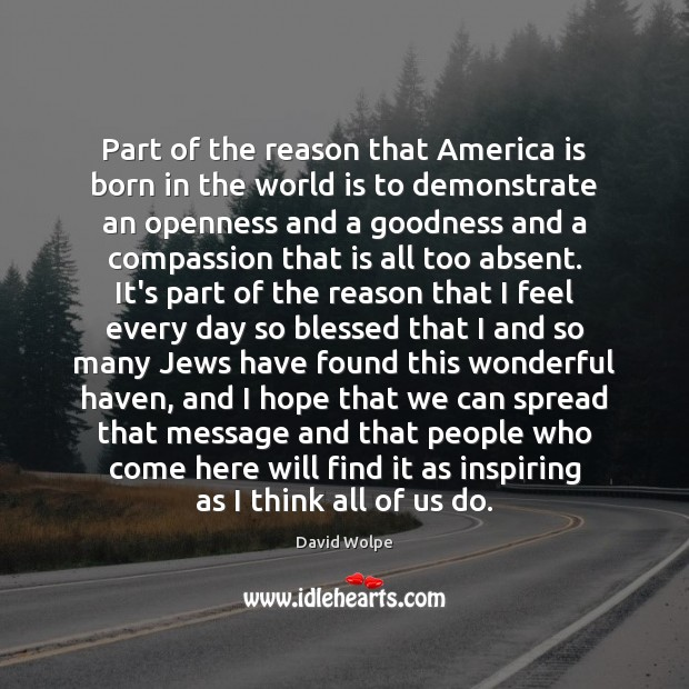Part of the reason that America is born in the world is Image