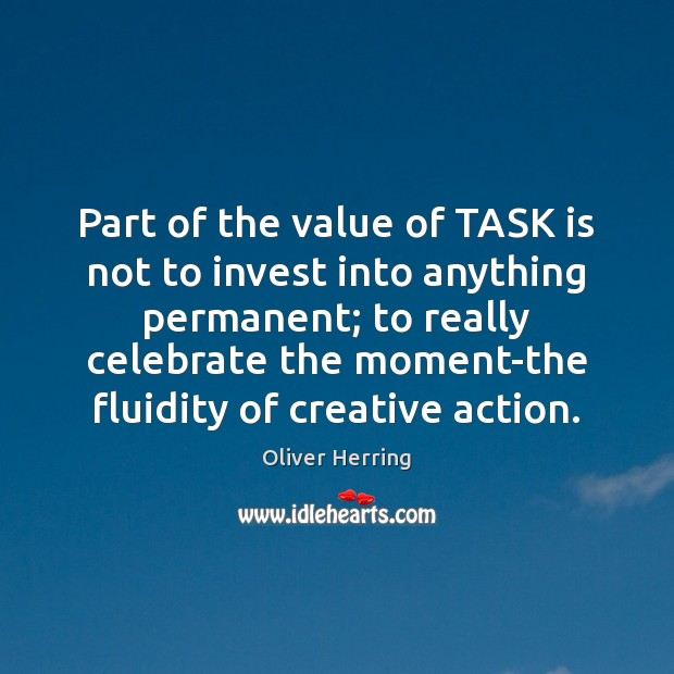 Part of the value of TASK is not to invest into anything Image