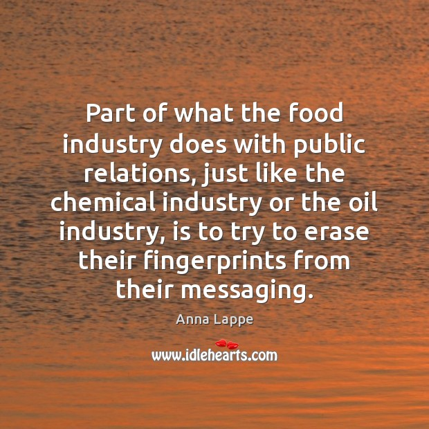 Image, Part of what the food industry does with public relations, just like