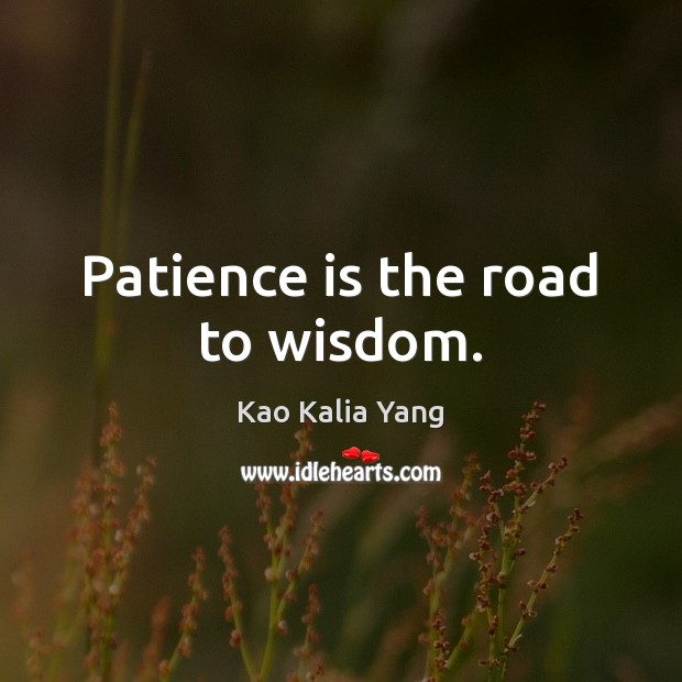 Patience is the road to wisdom. Patience Quotes Image