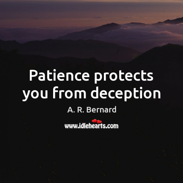 Image, Patience protects you from deception