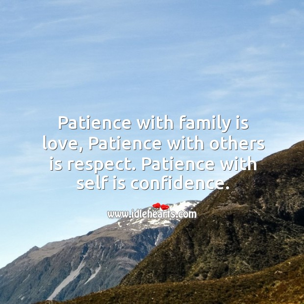 Patience with self is confidence Image