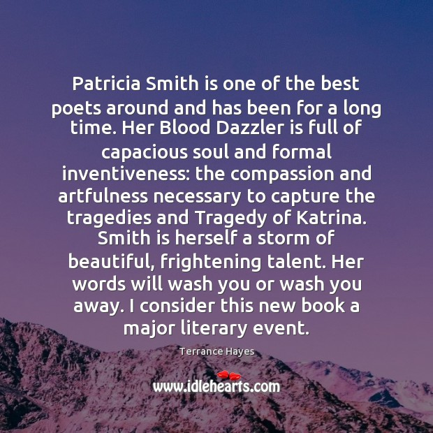 Image, Patricia Smith is one of the best poets around and has been