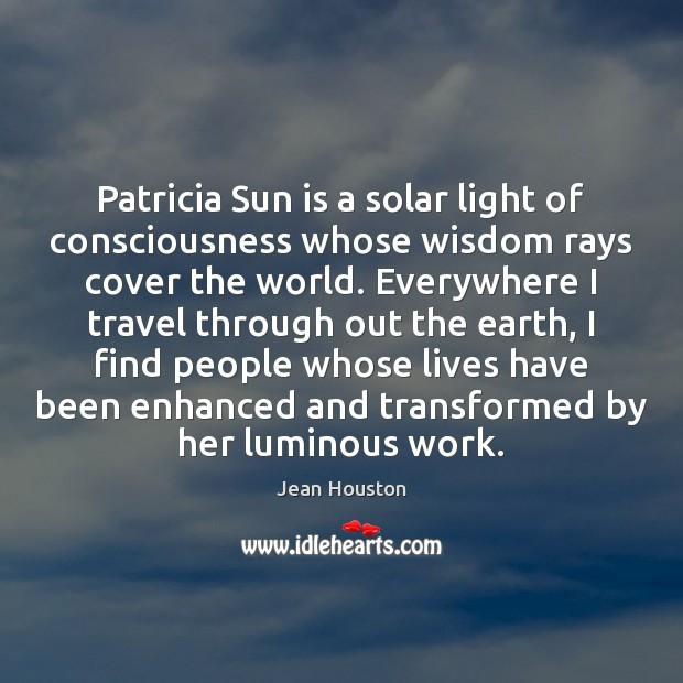 Patricia Sun is a solar light of consciousness whose wisdom rays cover Image