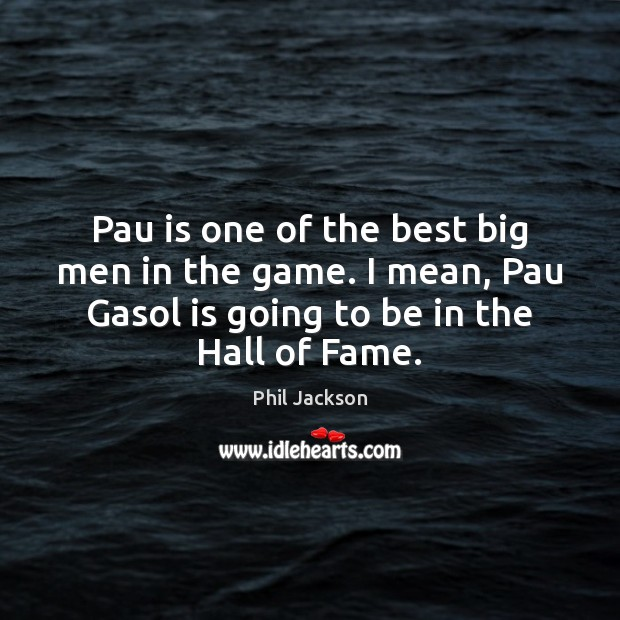 Pau is one of the best big men in the game. I Image