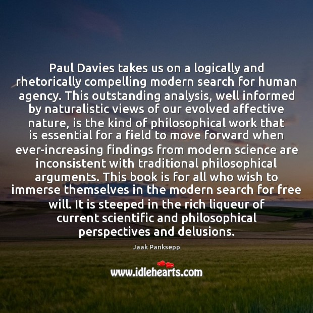 Image, Paul Davies takes us on a logically and rhetorically compelling modern search