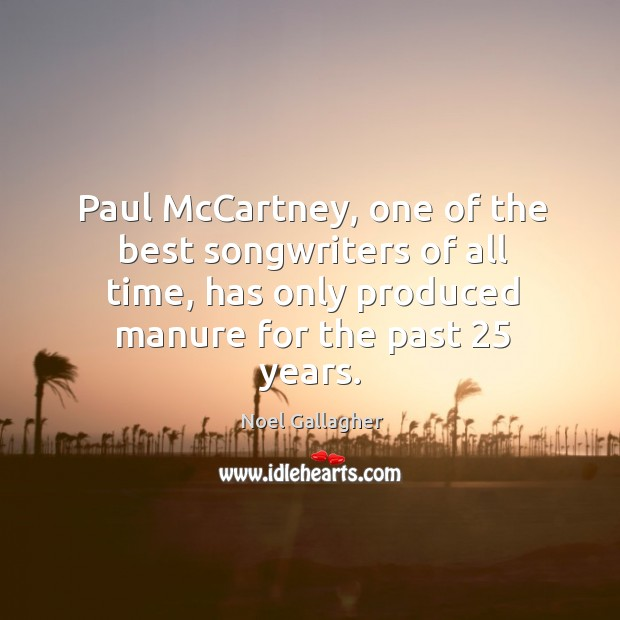 Paul McCartney, one of the best songwriters of all time, has only Image
