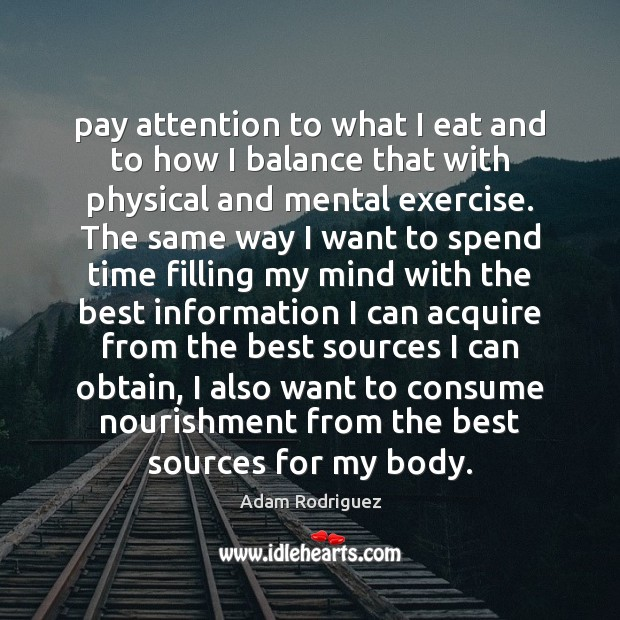 Image, Pay attention to what I eat and to how I balance that