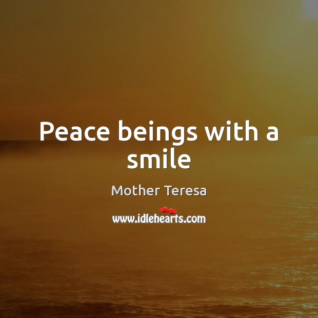 Image, Peace beings with a smile