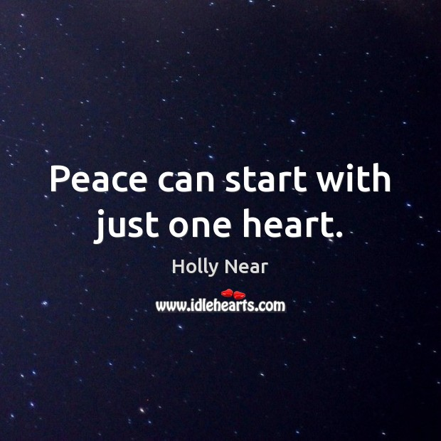 Peace can start with just one heart. Image