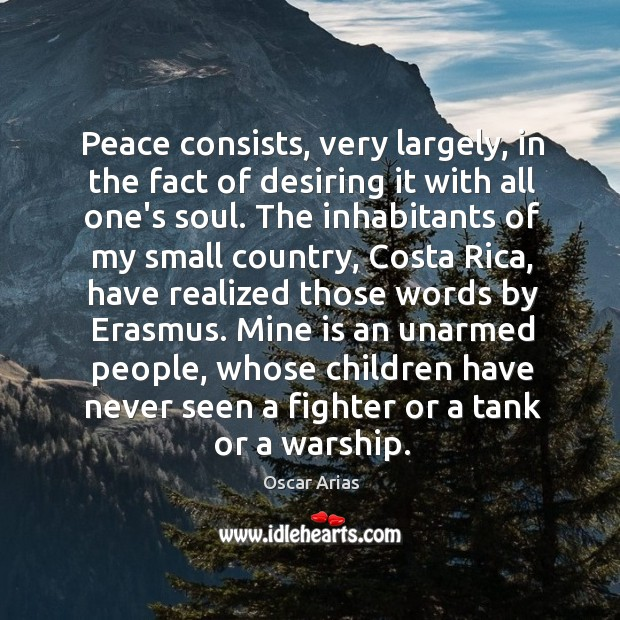 Peace consists, very largely, in the fact of desiring it with all Image