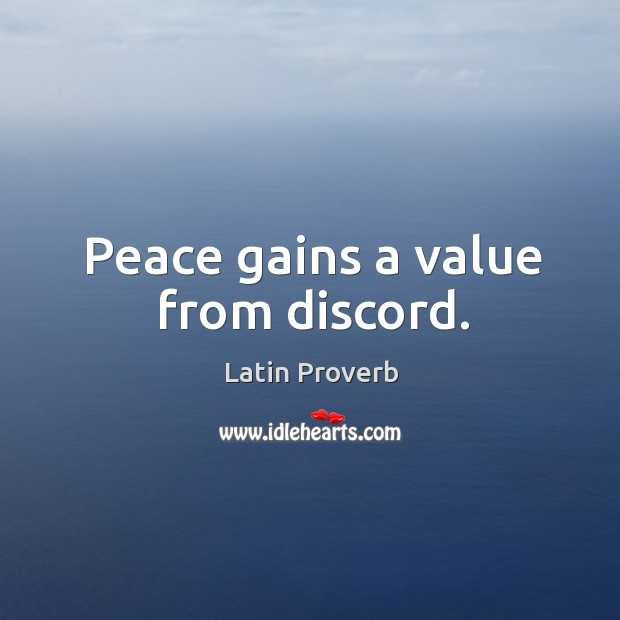 Image, Peace gains a value from discord.