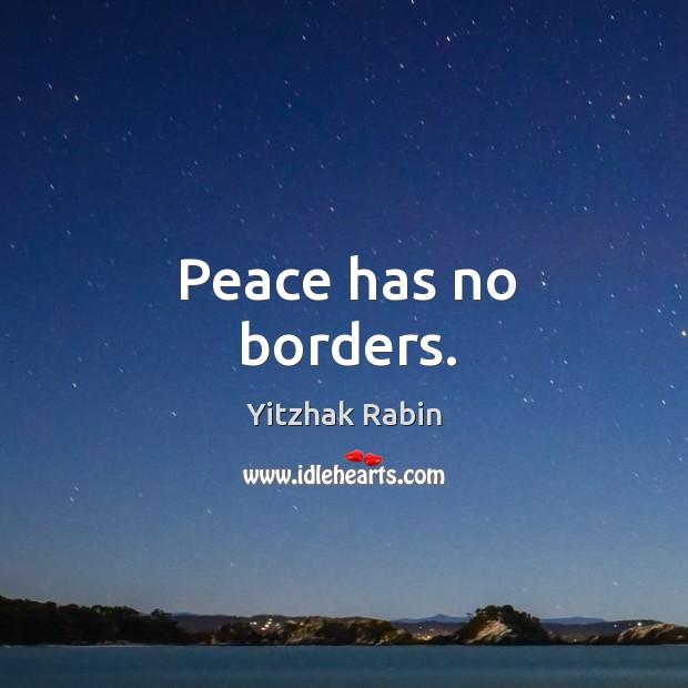 Peace has no borders. Image