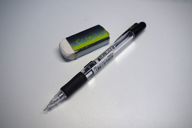 Image, The pencil and eraser story