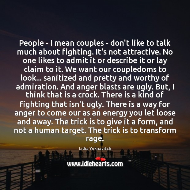 People – I mean couples – don't like to talk much about Image